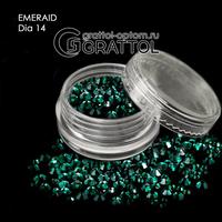СТРАЗЫ  Eмеrald  (150шт)   DIA 014