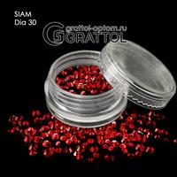 СТРАЗЫ  Siam  (150шт)   DIA 030