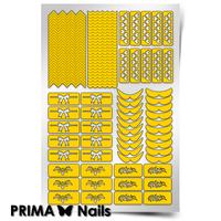 Трафарет для дизайна ногтей PrimaNails. Френч и лунки. Фантазия