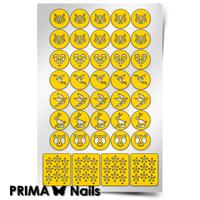 Трафарет для дизайна ногтей PrimaNails. Оригами