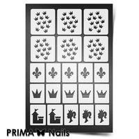 Трафарет для ногтей PrimaNails.NEW SIZE Принцесса