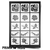 Трафарет для ногтей PrimaNails.NEW SIZE Розы