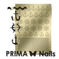 Металлизированные наклейки Prima Nails. Арт.SEA-001, Золото
