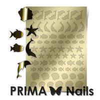 Металлизированные наклейки Prima Nails. Арт.SEA-004, Золото