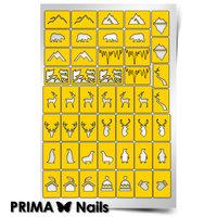 Трафарет для дизайна ногтей PrimaNails. Северный полюс
