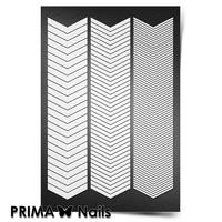 Трафарет для ногтей PrimaNails.NEW SIZE Шевроны