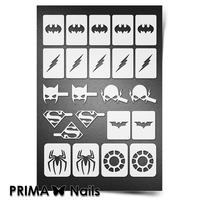 Трафарет для ногтей PrimaNails.NEW SIZE Супергерои