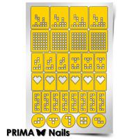Трафарет для дизайна ногтей PrimaNails. Тетрис