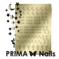 Металлизированные наклейки Prima Nails. Арт.W-03, Золото