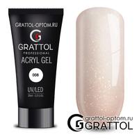 Grattol Acryl Gel 08 - акригель камуфляж 08  Glitter