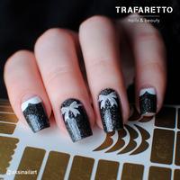 Трафарет для дизайна ногтей Trafaretto. Френч и лунки. Фантазия