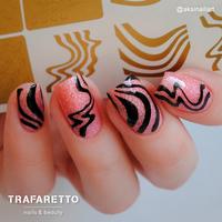 Трафарет для дизайна ногтей Trafaretto. Иллюзия