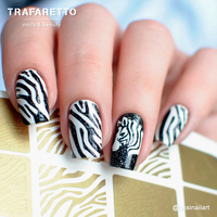 Трафарет для дизайна ногтей Trafaretto. Зебра