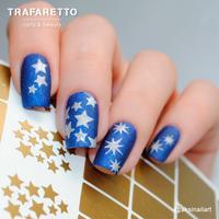 Трафарет для дизайна ногтей Trafaretto. Звезды