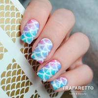 Трафарет для дизайна ногтей Trafaretto. Русалочка