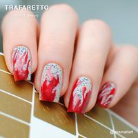 Трафарет для дизайна ногтей Trafaretto. Пламя