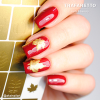 Трафарет для дизайна ногтей Trafaretto. Осень