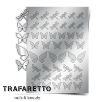 Металлизированные наклейки TRAFARETTO. Арт. BF-01, Серебро