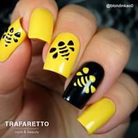 Трафарет для дизайна ногтей Trafaretto. Пчелиные соты