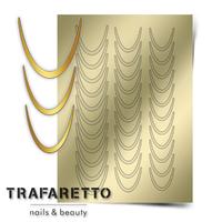 Металлизированные наклейки TRAFARETTO. Арт. CL-01, Золото