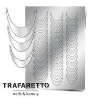 Металлизированные наклейки TRAFARETTO. Арт. CL-02, Серебро