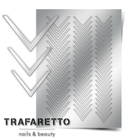 Металлизированные наклейки TRAFARETTO. Арт. CL-03, Серебро