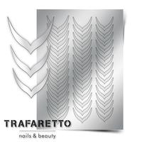 Металлизированные наклейки TRAFARETTO. Арт. CL-04, Серебро