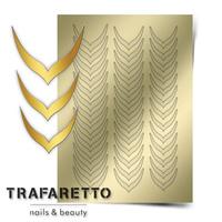 Металлизированные наклейки TRAFARETTO. Арт. CL-04, Золото