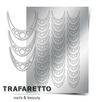 Металлизированные наклейки TRAFARETTO. Арт. CL-05, Серебро
