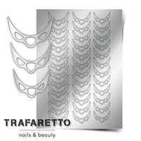 Металлизированные наклейки TRAFARETTO. Арт. CL-07, Серебро