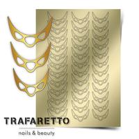 Металлизированные наклейки TRAFARETTO. Арт. CL-07, Золото