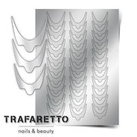 Металлизированные наклейки TRAFARETTO. Арт. CL-08, Серебро