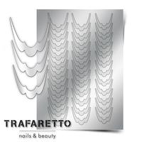 Металлизированные наклейки TRAFARETTO. Арт. CL-09, Серебро
