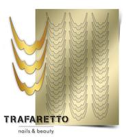 Металлизированные наклейки TRAFARETTO. Арт. CL-09, Золото