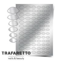 Металлизированные наклейки TRAFARETTO. Арт. CL-10, Серебро
