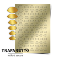Металлизированные наклейки TRAFARETTO. Арт. CL-10, Золото