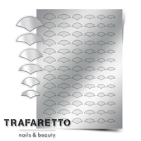 Металлизированные наклейки TRAFARETTO. Арт. CL-11, Серебро