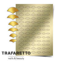 Металлизированные наклейки TRAFARETTO. Арт. CL-11, Золото