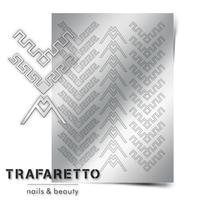 Металлизированные наклейки TRAFARETTO. Арт. CL-12, Серебро