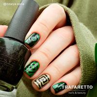 Трафарет для дизайна ногтей Trafaretto. Спирали квадрат