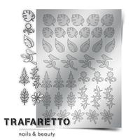 Металлизированные наклейки TRAFARETTO. Арт. FL-02, Серебро