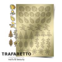 Металлизированные наклейки TRAFARETTO. Арт. FL-02, Золото