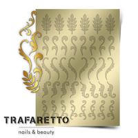 Металлизированные наклейки TRAFARETTO. Арт. FL-03, Золото