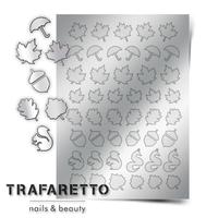 Металлизированные наклейки TRAFARETTO. Арт. FL-04, Серебро