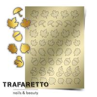 Металлизированные наклейки TRAFARETTO. Арт. FL-04, Золото