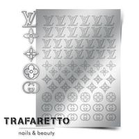 Металлизированные наклейки TRAFARETTO. Арт. Fsh-02, Серебро