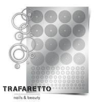 Металлизированные наклейки TRAFARETTO. Арт. GM-02, Серебро
