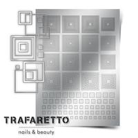 Металлизированные наклейки TRAFARETTO. Арт. GM-03, Серебро
