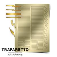 Металлизированные наклейки TRAFARETTO. Арт. GM-05, Золото