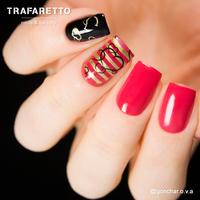 Трафарет для дизайна ногтей Trafaretto. Полоски